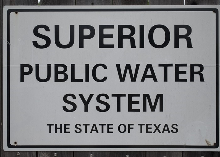 Superior Public Water System the State of Texas sign